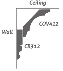 CB312 Crown Backer COV412 Crown/Cove