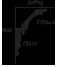 CB312 Crown Backer COV412 Crown/Cove
